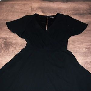 Black express mini dress